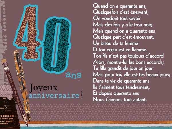message anniversaire quarantaine