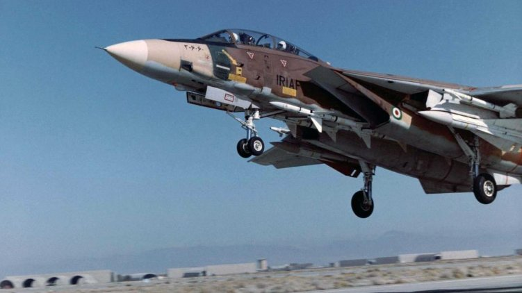 F-14 Tomcat fighter jet of the Islamic Republic of Iran Air Force (IRIAF) has crashed іn Bushehr province of Iran. usn navy united states (3).jpg