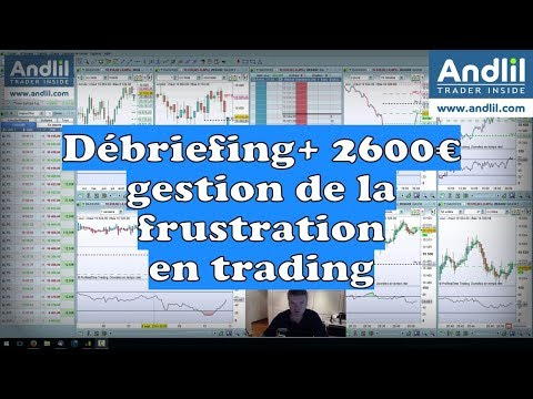 Andlil - Débriefing + 2600 euros et gestion de la frustration en trading