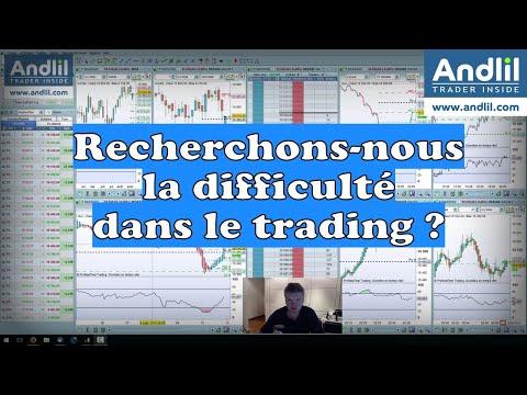 Cherchons-nous la difficulté dans la trading ? par Benoist Rousseau - Andlil