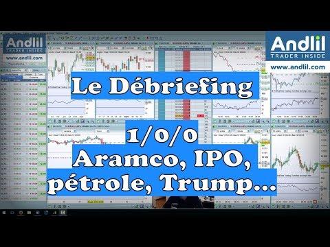 Aramco, IPO, Pétrole, Trump, Géopolitique Le Débriefing Trading Bourse