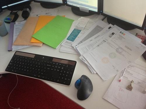 Le zéro papier est une utopie, la paperasse du mois en retard...