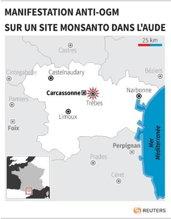 militants anti ogm chantier site monsanto Des militants anti OGM 