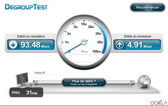 Test du débit de ma ligne Numéricable