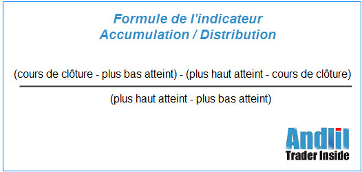 Formule accumulation distribution