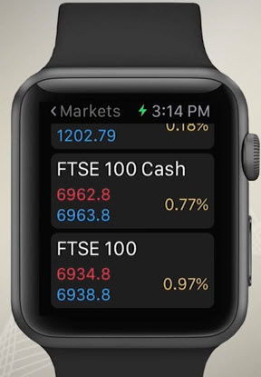 Visualiser les cours de bourse avec IG Apple Watch