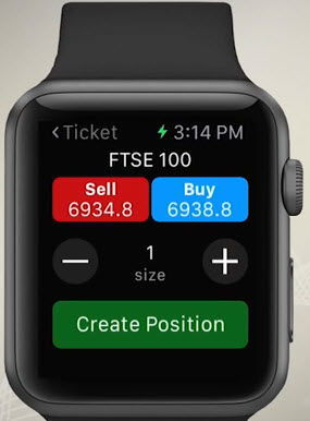 Passer un ordre en bourse avec IG Apple Watch