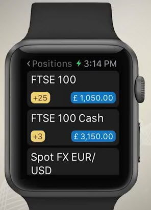 Surveilelr ses postions ouvertes avec l'application IG Apple Watch