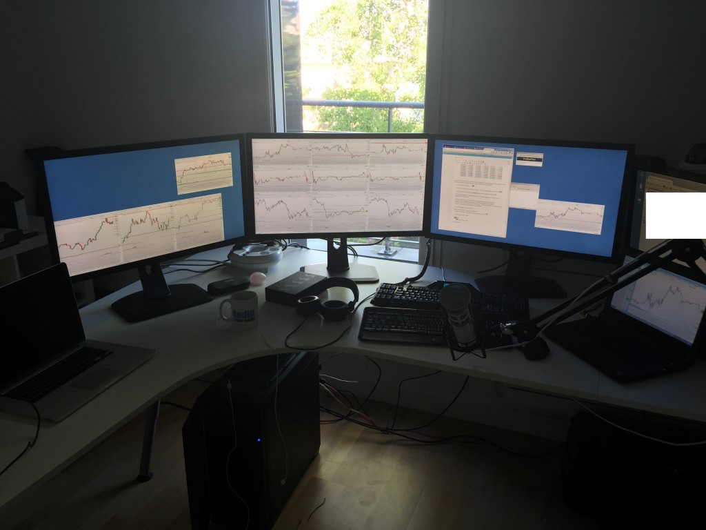 station de trading 4K