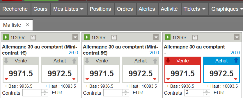 ig dax 1 euro