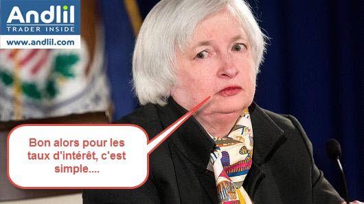 Janet Yellen et les taux d'intérêt