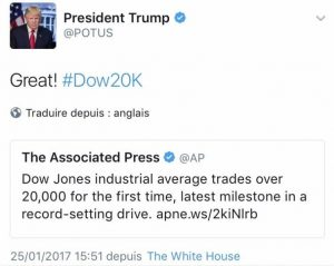 Donald Trump et le Dow Jones 300x239
