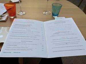 Le menu du restaurant Les Jardins de l'Opéra