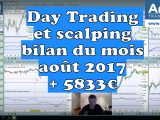 Day Trading et scalping, bilan du mois août 2017 : + 5833€