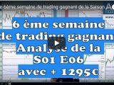 Analyse de la semaine 6 de trading #S01 E06