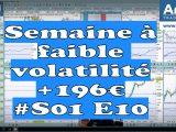 Semaine à faible volatilité en bourse, quelques trades et beaucoup de patience +196€ #S01 E10