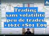 Trading sans volatilité, peu de trades +162€ #S01 E09