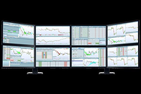 station de trading 8 ecrans