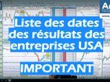 liste des résultats des entreprises américaines important 160x120