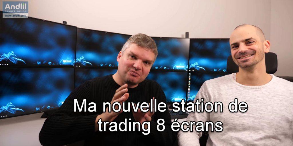 station de trading 8 écrans
