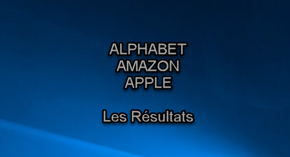 Amazon Apple Alphabet les résultats 1
