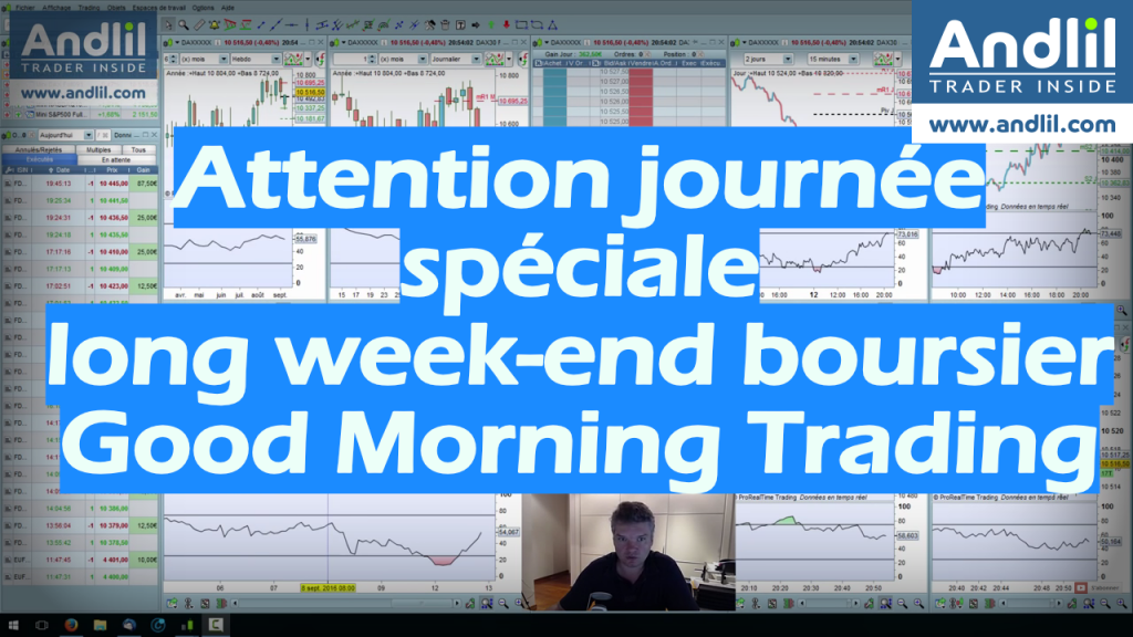 Attention journée spéciale long week end boursier Good Morning Trading