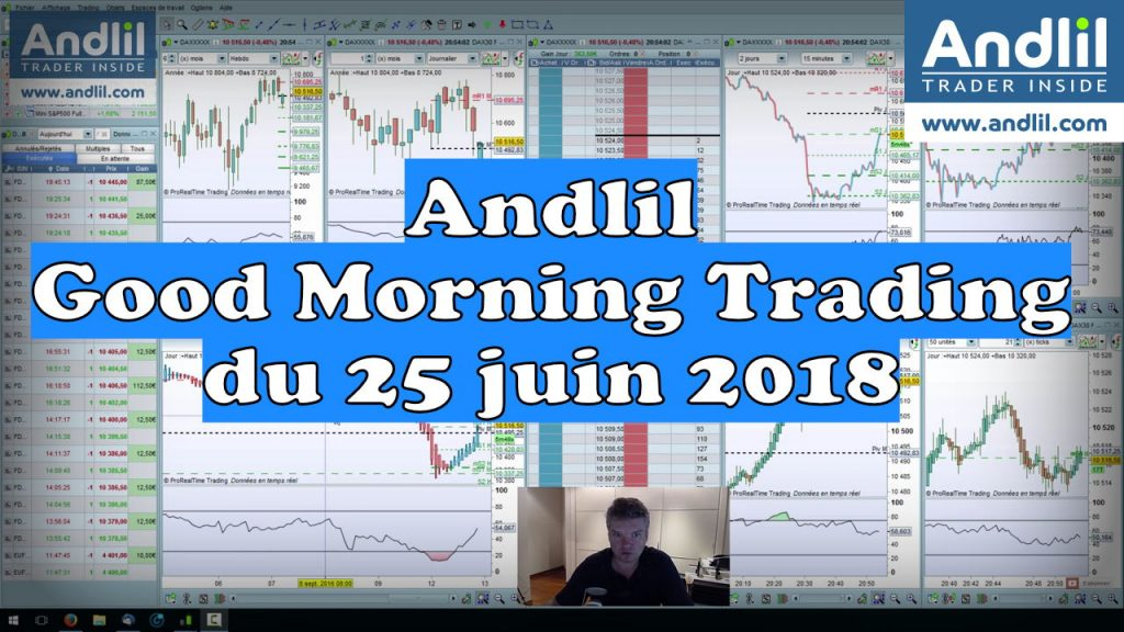 Andlil Good Morning Trading du 25 juin 2018