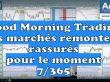 rassurés marchés financiers 160x120