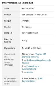 Classement Amazon du 14 fevrier 2021 de Devenez Trader Pro 194x300